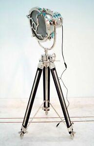 Designer nautical studio floor lamp tripod searchlight home decor spot light