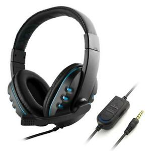Gaming Headphone Stereo Surround Headset  3.5mm Wired Mic for PS4 PC Computer