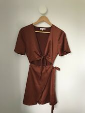 Candidate Rust Prism Silky Tie Front Wrap Dress General Pants