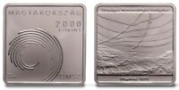 Hungary 2000 forint 2020 Hungarian Meteorological Sevice Square Coin BU