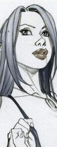 HOT LYANDRA ELF GIRL SK#1386 FANTASY ORIGINAL PINUP GIRL ART by ALEX MIRANDA