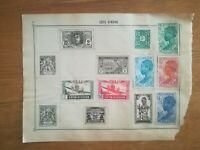 lot N°238 - 2 timbres Côte d'ivoire aof à décoller années 1900