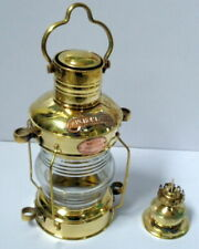 Nautical Brass Anchor Oil Lamp Ship Hanging Lantern Boat Christmas Light