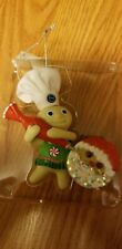Pillsbury Doughboy Poppin Fresh Heirloom Ornament With Sound and recipecard 2011