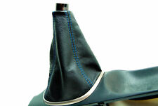 Acura RSX Manual shift Boot type S R Real Leather Black Blue Stitch For 02-06