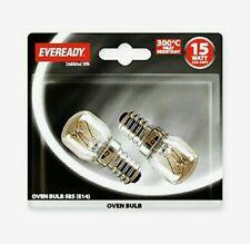 2 X Eveready 220-240 V 15 W 300 ° C Four Cuisine Appliance Lampe Ses E14 ampoule pygmée
