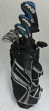 Mens Ping Golf Set Complete Driver, Wood, Hybrid, Irons, Putter Clubs Bag Stiff