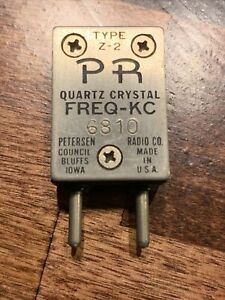Vintage FT 243 Radio Oscillator Crystal 6810 kHz Petersen Radio Co. Z-2