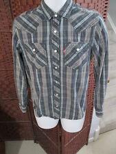 Men's Levis Western Shirt Size Small long Sleeve Snap Buttons Cowboy