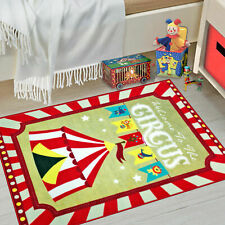 WHIZZ KIDS VIVID CIRCUS FUN FLOOR RUG 80x120cm **CRYSTAL CLEAR IMAGERY**