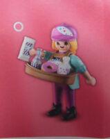 PLAYMOBIL 9444 Figures Girls Serie 14, Verkäuferin Bauchladen Donut Limo #11 NEU