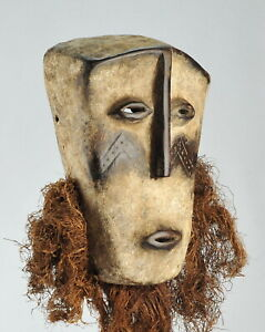 Superbe grand masque idimu LEGA Mask Congo African Tribal Art Africain 1263