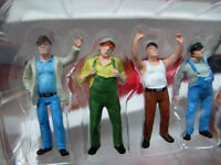 1/50 Colorful Construction Workers Man Labor 6 Figures Dolls Model Collection