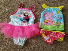 Toddler girl Swimsuits 2t, Peppa Pig 2 Piece Swimsuit, Disney's Frozen One Piece