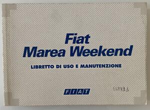Libretto Uso e Manutenzione Fiat Marea Weekend 2a Ediz. 1997