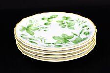 """Villeroy & Boch Parkland Green 6.75"""" Bread & Butter Plates House Garden Set Of 4"""