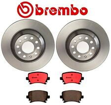 For Audi A6 Quattro Brembo Set of 2 Rear Brake Disc Rotors with Ceramic Pads NAO