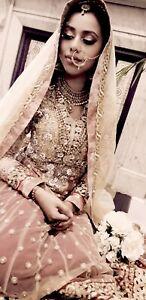 Wedding dress. South asian indian Pakistani nikah dress. V heavily Embellished