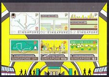 SINGAPORE 2003 MRT SYSTEM (NORTH EAST LINE) MINIATURE SHEET OF 6 STAMPS MINT MNH