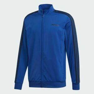 Mens Adidas  Track Jacket - XL - Blue Essentials 3 Stripes Tricot  DU0449 NWT