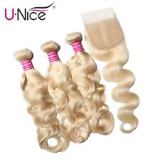 613 Bundles with Closure Brazilian Body Wave Human Hair 3 Bundles With Closure