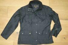 Barbour L108 Waxed Silk Utility Jacket Coat Black size 12
