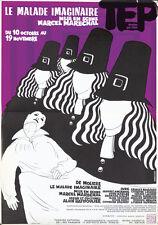 Original Vintage Poster Le Malade Imaginaire Theater French 1980s Moliere Paris
