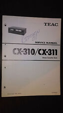 Teac cx-310 311 Service Manual Original Repair book stereo cassette tape deck