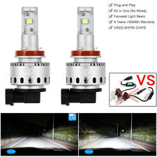 H11 LED Headlight Kit Bulbs 80w High Power HID Xenon White Low Beam Lamps 6000K