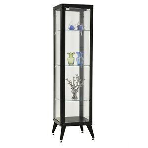 Black Alister 4 Tier Display Cabinet