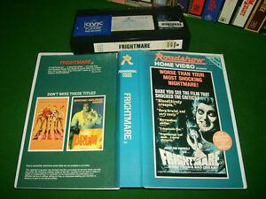 FRIGHTMARE - 1974 Rare Australian Roadshow Release on Vhs - Classic Cult HORROR
