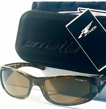NEW* Arnette HOLD UP in TORTOISE Sport Wrap POLARIZED Bronze Sunglass 4139 67/83