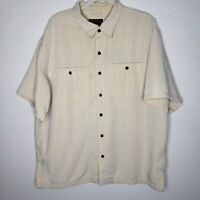 5.11 Tactical Series Beige Shirt Short Sleeve Size XL  Conceal Weapon carry 511