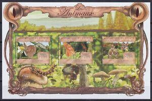 Guinea  9793 - 9795 KB / Sheet **, Schmetterlinge / Butterflies (20 ME)