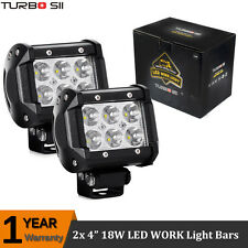 Pair 4Inch 18W Cree LED Spot Work Light Bar Pods Offroad SUV UTE Truck 4X4 Boat