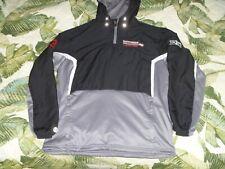 Mens Hooded 1/4 Zip Pullover Shirt Rutgers Scarlet Knights Lacrosse Holloway