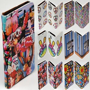 For Sony Xperia Series 1970s Retro Vintage Print Wallet Mobile Phone Case Cover