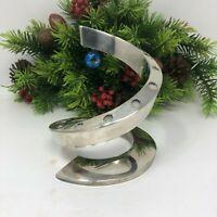 Dansk Silver plated Spiral Candleholder Bertil Vallien 12 Taper Candles MCM