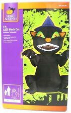 """Home Accents 60"""" 5ft Tall Airblown Inflatable  LED BLACK SCARY CAT NEW"""