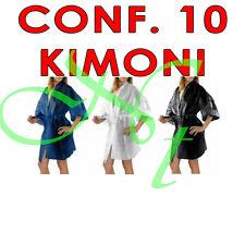 KIMONO MONOUSO IN TNT CAMICE PARRUCCHIERE - ESTETISTA - SPA CONF. 10 PZ