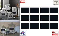 12pcs Blackboard Chalkboard Stickers Kitchen Jar Organizer Labels [B0V~A4]
