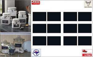12pcs Blackboard Chalkboard Stickers Kitchen Jar Organizer Labels [B0V1~A4]