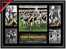 Richmond 1980 VFL Premiership Glory Official AFL Photo Collage Framed Bartlett