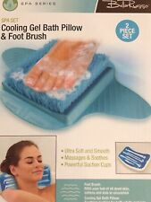New listing Cooling Gel Bath pillow and Foot Brush Spa Set, new