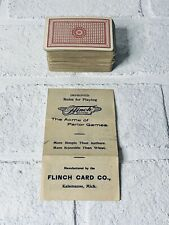Antique FLINCH Card Game Parlor Game Complete with INSTRUCTIONS 1913