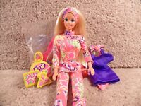 Complete 1991 Mattel Cute N' Cool Barbie Doll Accessories-Blond Special Edition