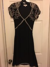 Temperley London Black Silk Beaded Dress Sz Us 6 UK 10 New