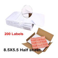 200 Labels Blank Self Stick Paper for Printing USPS UPS eBay Postage