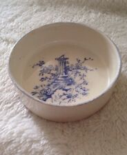 Blue And White Vintage Trinket Dish Crown Devon Fieldings