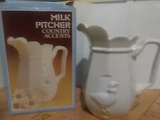 NIB milk pitcher COuntry Accents Nelson McCoy Ceramics by designer accents